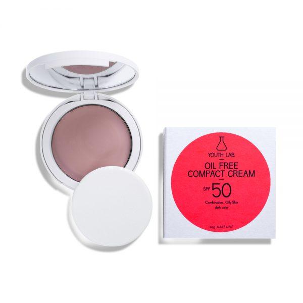 Oil Free Compact Cream SPF 50 Combination_Oily Skin_Dark color