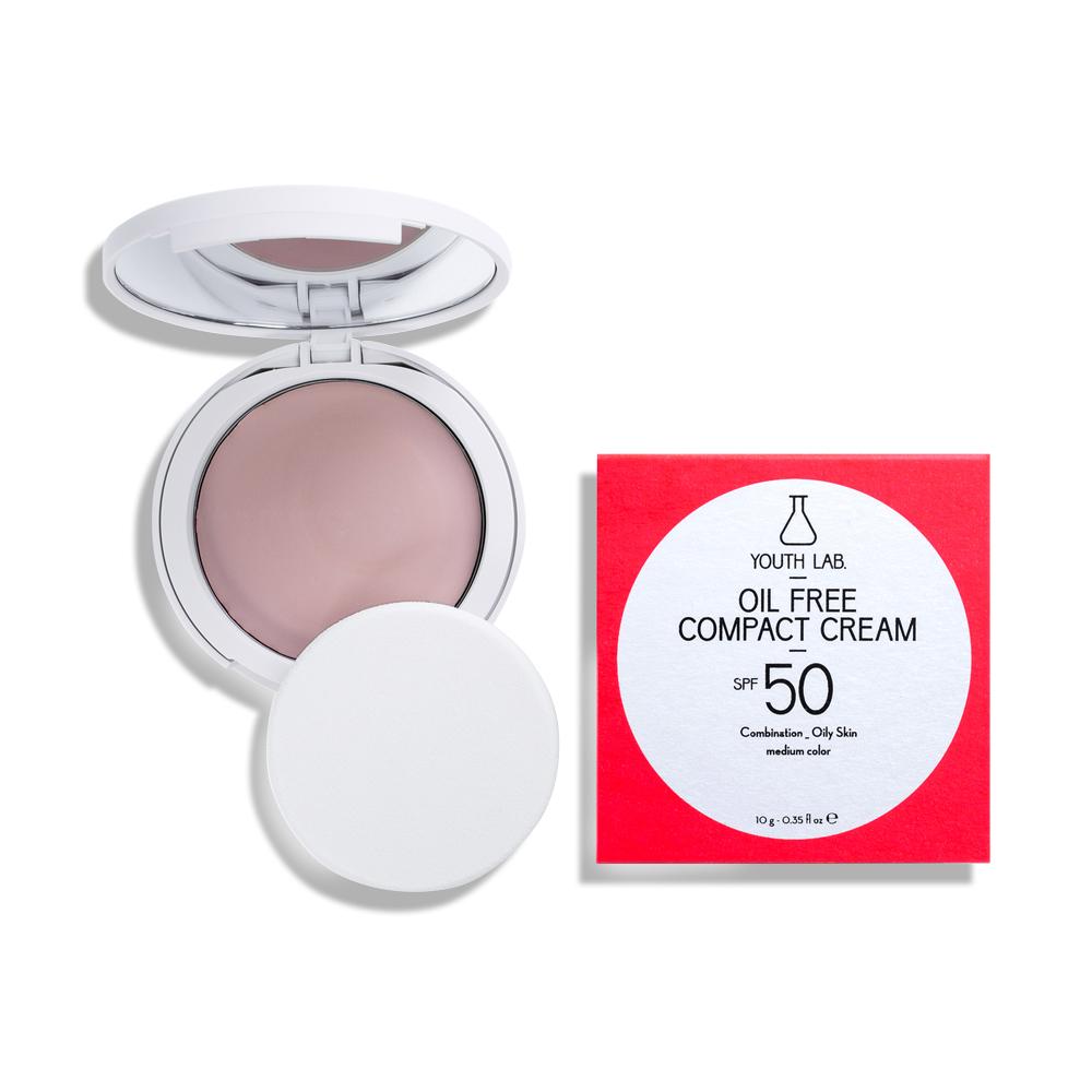 Oil Free Compact Cream SPF 50 Combination_Oily Skin_Medium color